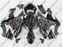 Dual Flame Kawasaki ZX10R Fairings