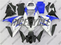 White/Blue Yamaha YZF-R1 Fairings