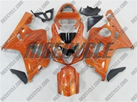Metallic Orange Fire Suzuki GSX-R 600 750 Fairings