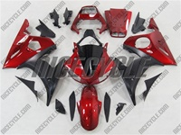 Yamaha YZF-R6 Matte Black / Red Fairings