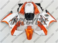 Honda CBR 600 F2 White/Burnt Orange Fairings