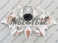 Honda CBR 600 F2 White Tribal Design Fairings