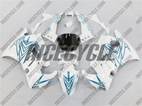 Honda CBR 600 F2 White/Blue Tribal Fairings