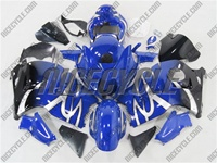 Suzuki GSX-R 1300 Hayabusa Silver Tribal on Blue Fairings