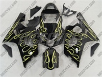 Yellow Flame Suzuki GSX-R 600 750 Fairings