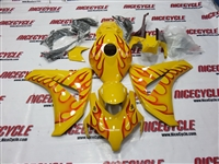 Honda CBR 1000RR Yellow Fire Fairings
