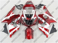 Suzuki GSX-R 1000 Metallic Red/White Fairings