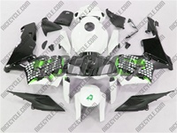 Honda CBR 600RR Graffiti Green Fairings