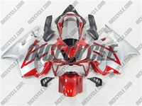 Silver/Candy Red Honda CBR 600 F4i Fairings