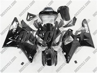 Yamaha YZF-R1 Black Ghost Flame Fairings