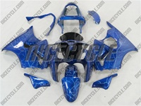 Kawasaki ZX6R Lighting Blue Fairings