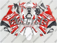 Kawasaki ZX6R Red/White Splash Fairings