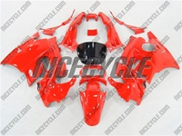 Solid Red Honda CBR 600 F2 Fairings