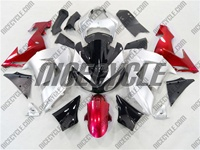 Kawasaki ZX10R Silver/Candy Red Fairings