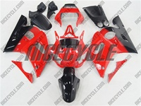 Yamaha YZF-R6 Black/Red Fairings