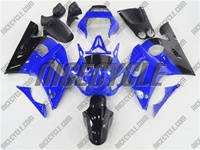 Yamaha YZF-R6 Black/Blue Fairings