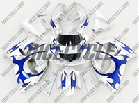 Blue Tribal Suzuki SRAD GSX-R 600 750 Fairings