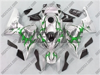 Honda CBR 1000RR Silver/Tribal Green Fairings