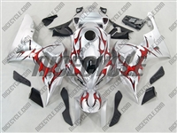 Honda CBR 1000RR Silver/Tribal Red Fairings