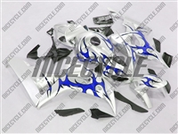 Honda CBR 1000RR Silver/Tribal Blue Fairings