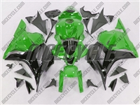 Green/Black Honda CBR 600RR Fairings