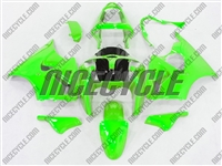 Kawasaki ZX6R Neon Green Fairings