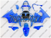 Kawasaki ZX6R Bright Metallic Blue Fairings