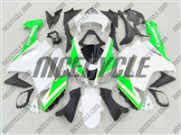 Kawasaki ZX6R Neon Green/White Fairings