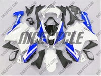 Kawasaki ZX6R Blue/White Fairings