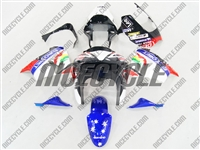 Kawasaki ZX9R Eurobet Race Blue Fairings