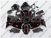 Suzuki GSX-R 1300 Hayabusa Metallic Red Flames Fairings
