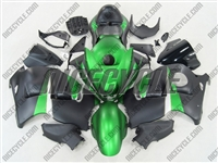 Suzuki GSX-R 1300 Hayabusa Matte Green/Black Fairings