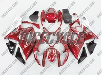 Metallic Red Flame Suzuki GSX-R 1000 Fairings