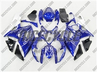 Suzuki GSX-R 1000 Metallic Blue Flame Fairings