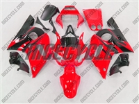 Yamaha YZF-R6 Red/Black Flame Fairings