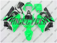 Yamaha YZF-R6 Green/Black Flame Fairings
