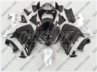 Kawasaki ZX10R Black/Silver Fairings