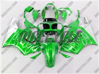 Kawasaki ZX12R Mean Green Flame Fairings