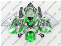 Honda CBR 600 F4i Metallic Green/Silver Fairings