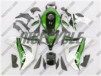 Honda CBR 1000RR Two Brothers Silver/Green Fairings