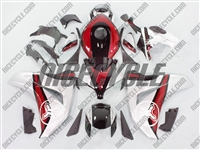 Honda CBR 1000RR Two Brothers Silver/Red Fairings
