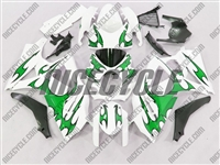 Suzuki GSX-R 1000 Green Tribal on White Fairings