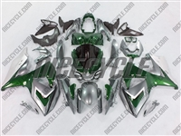 Green/Silver Suzuki GSX-R 1000 Fairings
