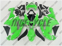 Kawasaki ZX6R Bright Green Fairings