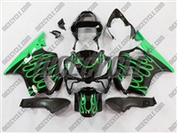 Honda CBR 600 F4i Green Flame Fairings