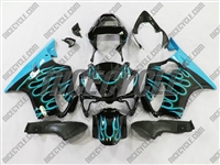 Teal Flame Honda CBR 600 F4i Fairings