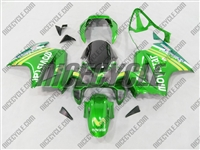 Honda VFR 800 Green Movistar Fairings