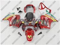 Red Movistar Honda VFR 800 Fairings