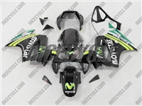 Black Movistar Honda VFR 800 Fairings