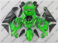Kawasaki ZX6R Matte Green Fairings